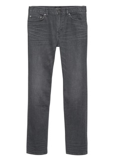 Banana Republic Athletic Tapered Rapid Movement Denim Gray Wash Jean