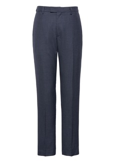 Banana Republic Athletic Tapered Smart-Weight Performance Wool Blend Houndstooth Suit Pant