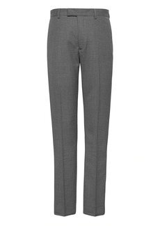 Banana Republic Athletic Tapered Smart-Weight Performance Wool Blend Solid Suit Pant