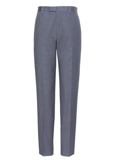 Banana Republic Athletic Tapered Windowpane Performance Stretch Wool Dress Pant