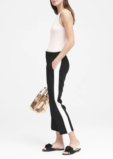 Banana Republic Avery Straight-Fit Easy Care Tuxedo Stripe Ankle Pant