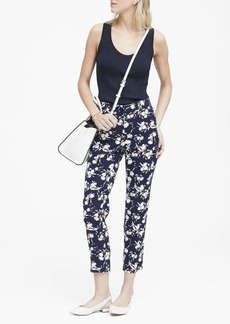 Banana Republic Avery Straight-Fit Floral Ankle Pant