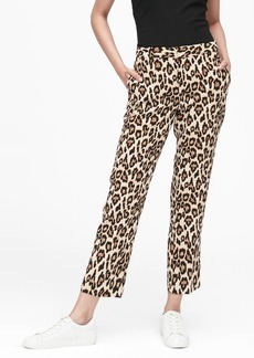 Banana Republic Avery Straight-Fit Leopard Ankle Pant