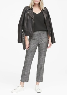 Banana Republic Avery Straight-Fit Plaid Ankle Pant