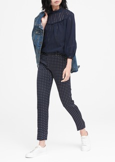 Banana Republic Avery Straight-Fit Polka Dot Ankle Pant