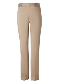 Banana Republic Avery Straight-Fit Sateen Ankle Pant with Cuff