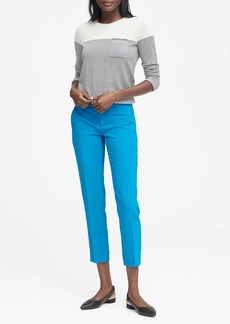 Banana Republic Avery Straight-Fit Solid Ankle Pant