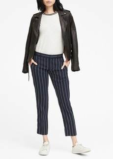 Banana Republic Avery Straight-Fit Stretch Crepe Stripe Ankle Pant