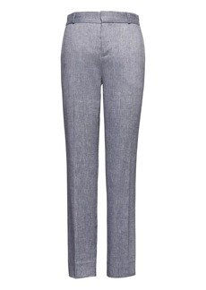 Banana Republic Avery Straight-Fit Stretch Linen-Cotton Ankle Pant