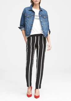 Banana Republic Avery Straight-Fit Stripe Ankle Pant