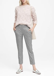 Banana Republic Avery Straight-Fit Texture Ankle Pant