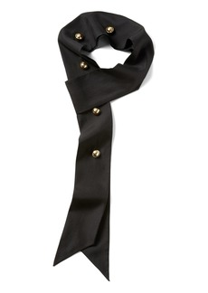 Banana Republic x Olivia Palermo | Skinny Silk Scarf with Button Detail