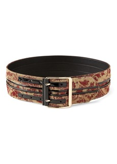 Banana Republic x Olivia Palermo | Wide Pieced Brocade Waist Belt
