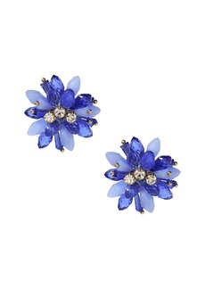 Banana Republic Beaded Floral Statement Stud Earring