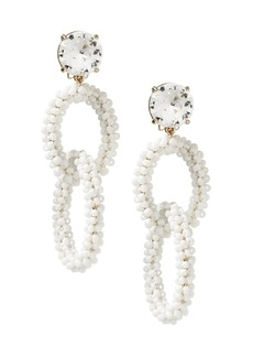 Banana Republic Beaded Link Clip-On Statement Earring