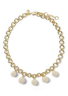 Banana Republic Beaded Pearl Charm Necklace