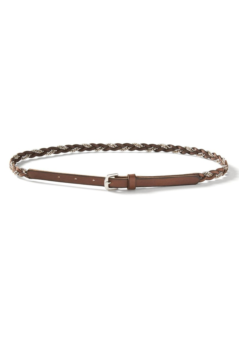 Banana Republic Beaded-Woven Leather Belt