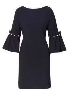 Banana Republic Bell-Sleeve Shift Dress with Pearl Accents