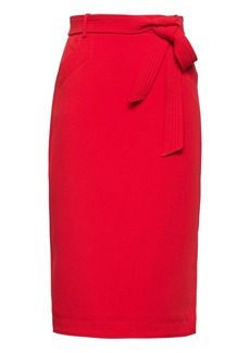 Banana Republic Belted Pencil Skirt with Side Slit