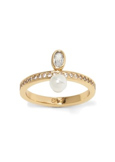 Banana Republic Bezel Stone and Pearl Ring