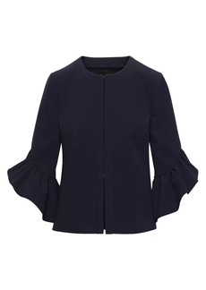 Bi-Stretch Bell-Sleeve Jacket
