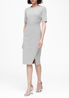 Banana Republic Bi-Stretch Short-Sleeve Sheath Dress