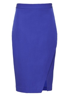 Banana Republic Bi-Stretch Wrap-Front Pencil Skirt