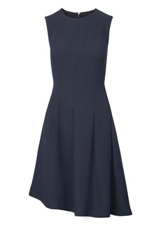 Banana Republic Bias-Pleated Fit-and-Flare Dress