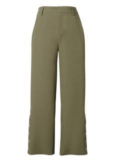 Banana Republic Blake-Fit Cropped Button Wide-Leg Pant