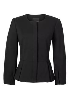Blouson-Sleeve Ponte Jacket