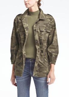Blouson-Sleeve Utility Jacket