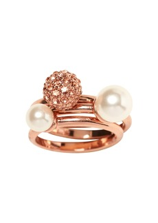 Banana Republic Blush Fireball and Pearl Stacking Ring
