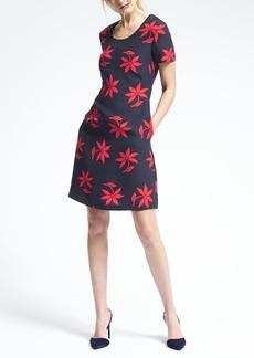 Bold Floral Crepe Dress