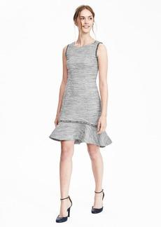 Boucle Flounce Dress