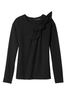 Bow-Neck Couture Sweatshirt