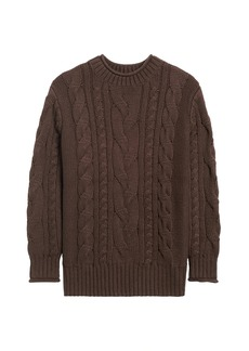 Banana Republic JAPAN EXCLUSIVE Boxy Cable-Knit Sweater