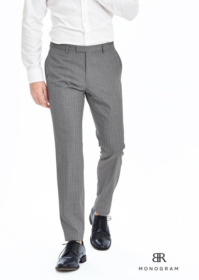 Banana Republic BR Monogram Gray Pinstripe Wool Suit Trouser