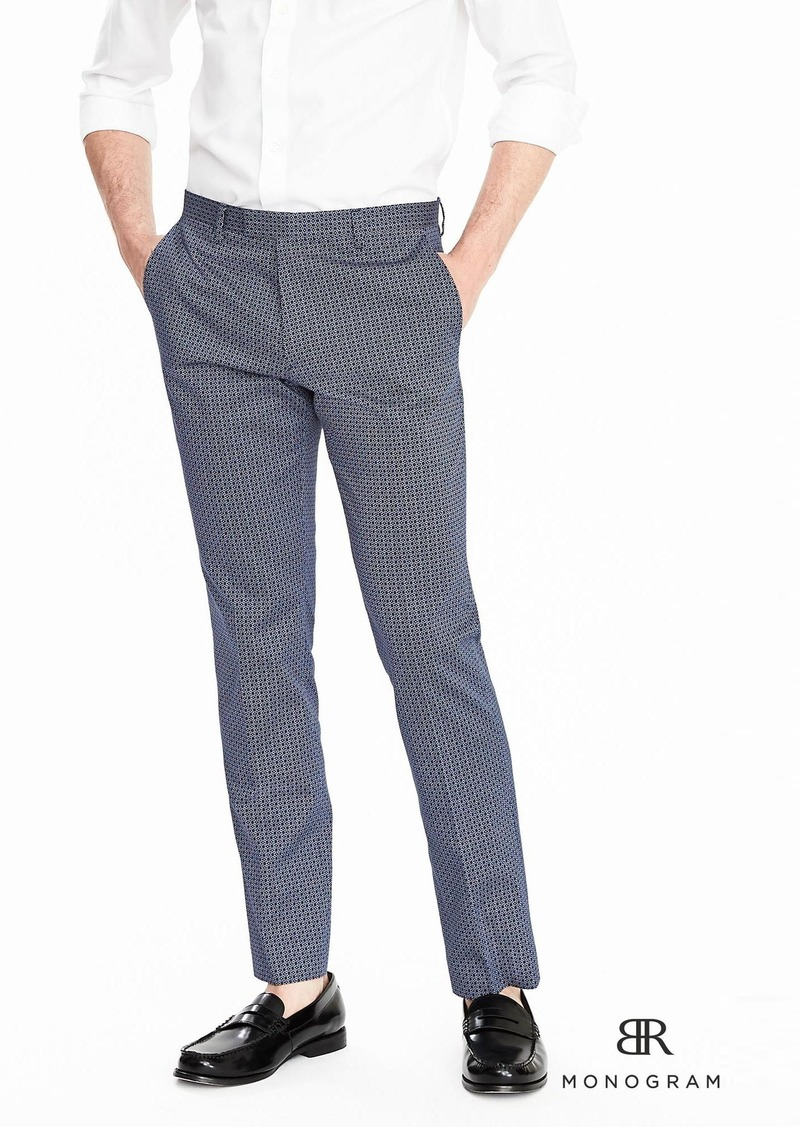 Banana Republic BR Monogram Micro Print Suit Trouser