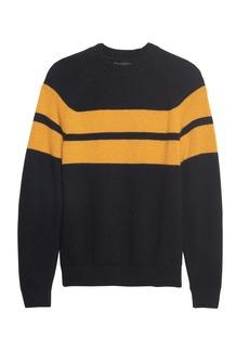 Banana Republic BR x Kevin Love &#124 Air Spun Stripe Crew-Neck Sweater