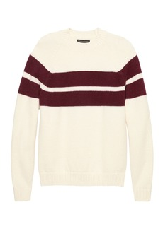 Banana Republic BR x Kevin Love &#124 Air Spun Stripe Crew-Neck Sweater