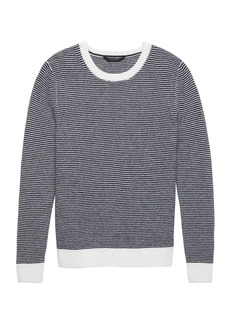 Banana Republic BR x Kevin Love &#124 Cashmere Textured Crew-Neck Sweater