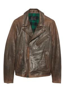 Banana Republic BR x Kevin Love &#124 Slim Leather Biker Jacket