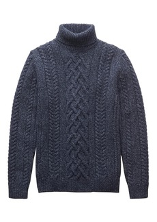 Banana Republic BR x Kevin Love &#124 Merino Wool Blend Cable-Knit Turtleneck Sweater