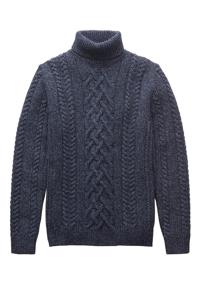 2987f6a44a178a Banana Republic BR x Kevin Love | Cable-Knit Turtleneck Sweater ...
