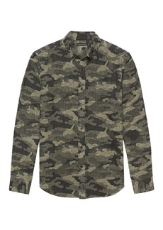 Banana Republic BR x Kevin Love &#124 NEW Slim-Fit Japanese Cotton Blend Camo Shirt