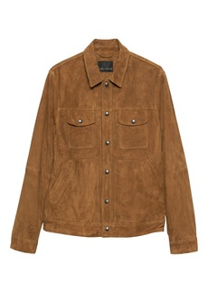 Banana Republic BR x Kevin Love &#124 Suede Trucker Jacket
