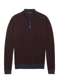 Banana Republic BR x Kevin Love &#124 SUPIMA® Cotton Textured Sweater Polo