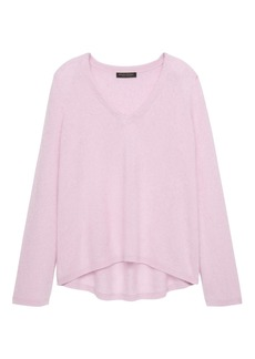 Banana Republic Brushed Cashmere Bell-Sleeve Swing Sweater