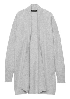 Banana Republic Brushed Cashmere Long Open Cardigan Sweater
