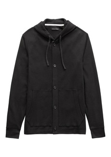 Banana Republic Waffle-Knit Button Hoodie
